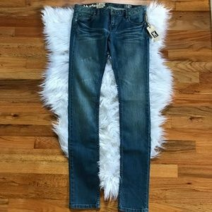 NWT Hurley Skinny Blue Jeans - Distressed